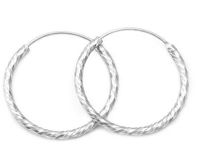 Úžasné stříbrné kruhové náušnice AGUC350