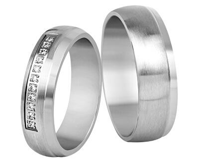 Dámský snubní prsten z oceli SPD03