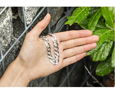 Designový stříbrný náramek Pancer AGB145