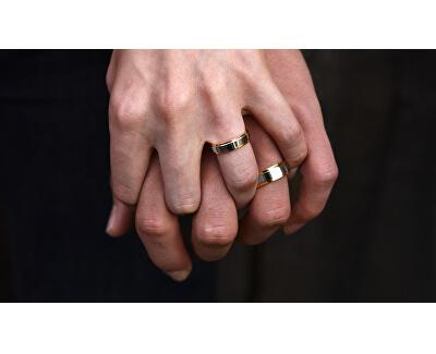 Pánský bicolor snubní prsten z oceli SPP05