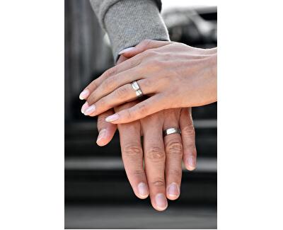Pánský bicolor snubní prsten z oceli SPP07