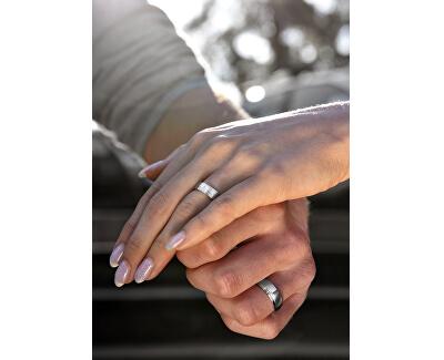 Pánský snubní prsten z oceli SPP06
