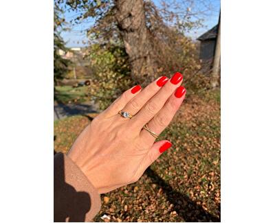 Pozlacený dvojitý prsten ze stříbra AGG196