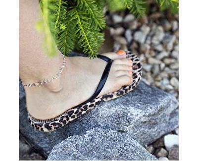 Romantický stříbrný řetízek na nohu AGN27