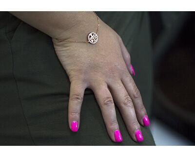 Bratara din argint placată cu aur roz și copacul vietii AGB485 / 20-ROSE