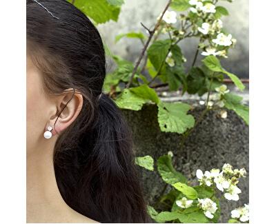 Stříbrné náušnice s pravou perlou TAGUP1649PS