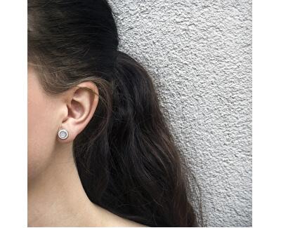 Stříbrné třpytivé náušnice s perletí TAGUP1469S