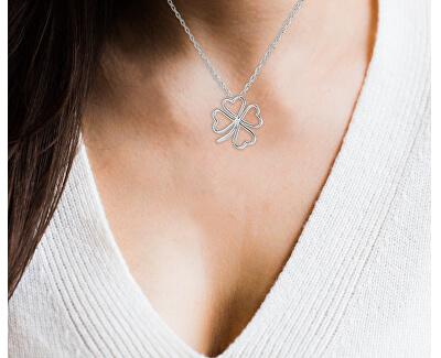 Stříbrný náhrdelník se čtyřlístkem AGS780/47