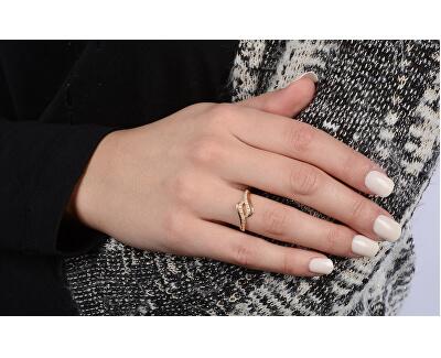 Inel din aur cu cristale clare 229 001 00638