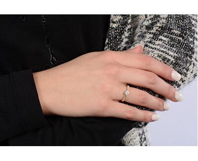 Zlatý prsten s krystaly 229 001 00753