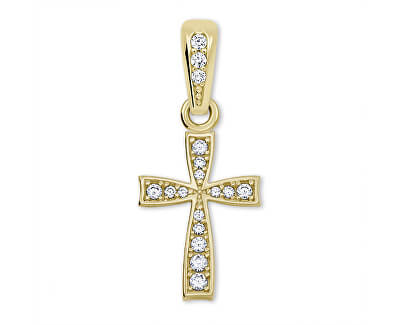 Cruce galbenă de aur curată 249 001 00570 - 0,65 g