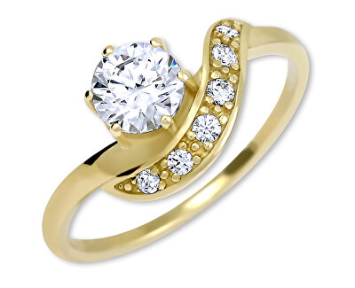 Krásný zlatý prsten s krystaly 229 001 00807