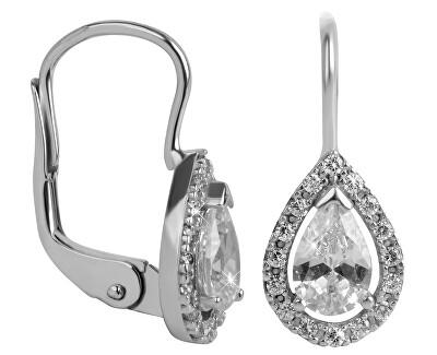 Náušnice z bílého zlata s krystaly 239 001 00831 07