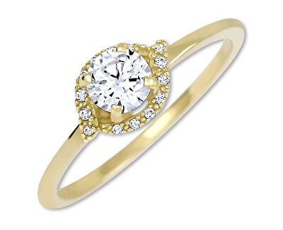 Okouzlující zásnubní prsten ze žlutého zlata 229 001 00804