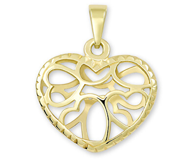 Přívěsek ze žlutého zlata Srdce 241 001 01044