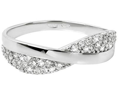 Brilio Prsten z bílého zlata s krystaly 229 001 00729 07