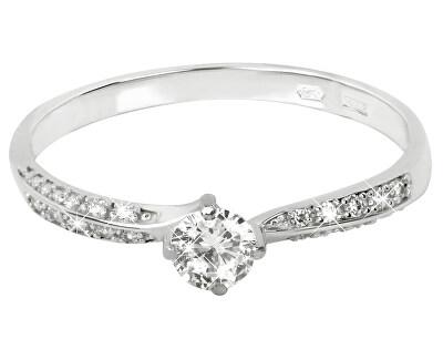 Brilio Prsten z bílého zlata s krystaly 229 001 00733 07