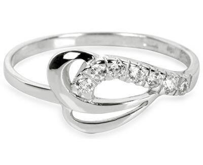 Brilio Prsten z bílého zlata s krystaly 229 001 00583 07 - 1,30 g
