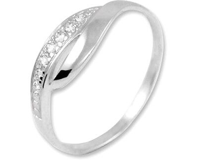Brilio Prsten z bílého zlata s krystaly 229 001 00635 07 - 1,30 g