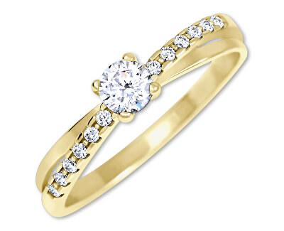 Půvabný prsten s krystaly ze zlata 229 001 00810