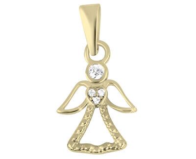 Půvabný zlatý přívěsek Anděl 249 001 00559