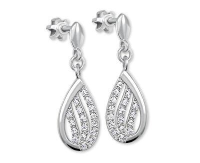 Třpytivé náušnice z bílého zlata s krystaly 239 001 00875 07 - 2,50 g