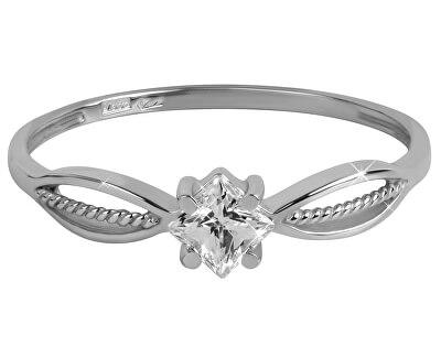 Brilio Zásnubní prsten s čirým krystalem 226 001 01003 07
