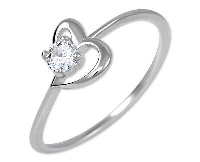 Zásnubní prsten s krystalem Srdce 226 001 01033 07