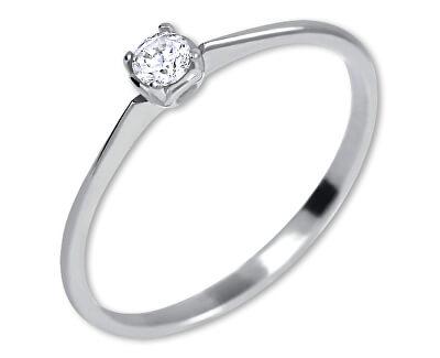 Aur alb inel de logodna cu cristal 226 001 01035 07