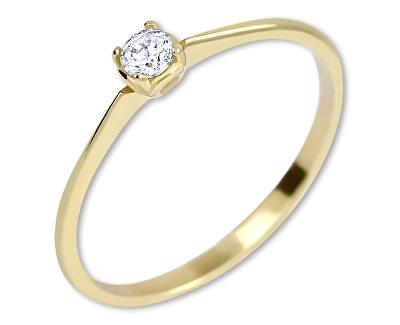 Zásnubný prsteň zo žltého zlata s kryštálom 226 001 01036