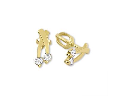 Brilio Cercei din aur cu cristale clare 239 001 00621 - 1,25 g