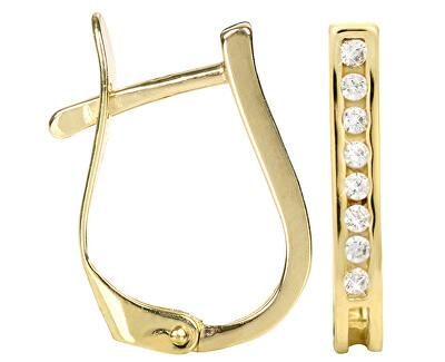 Brilio Zlaté náušnice s krystaly 239 001 00559 - 1,30 g