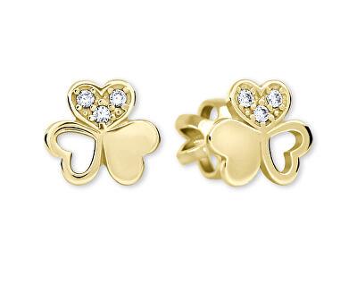 Zlaté srdíčkové s krystaly 239 001 00938 - 1,20 g