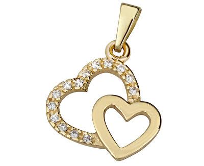 Zlatý prívesok Dve srdcia 249 001 00490 - 0,80 g