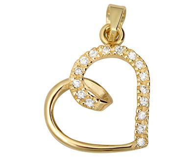 Zlatý prívesok s kryštálmi Srdce 249 001 00451