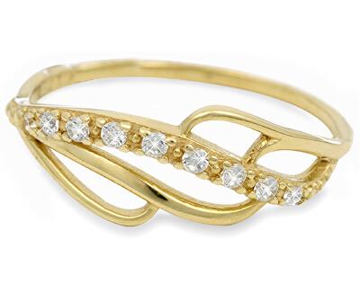 Brilio Zlatý prsteň s kryštálmi 229 001 00624 - 1,35 g