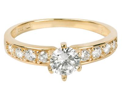 Brilio Zlatý prsten s krystaly 229 001 00761