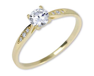 Inel de logodnă auriu cu cristale 229 001 00809