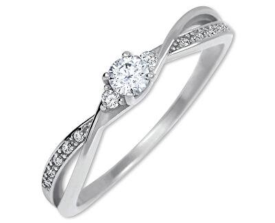 Zlatý zásnubní prsten s krystaly 229 001 00812 07