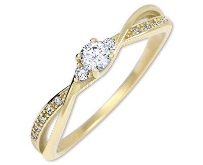 Inel de logodnă auriu cu cristale 229 001 00812