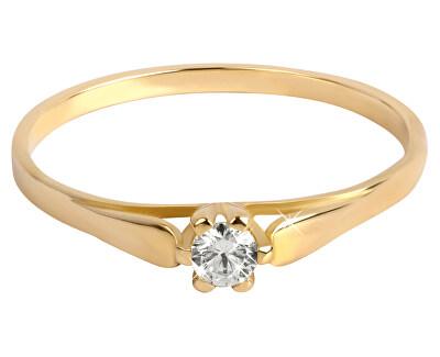 Brilio Zlatý zásnubní prsten se zirkonem 226 001 00992
