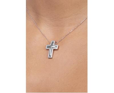 Nádherný přívěsek z bílého zlata Křížek 249 001 00242 07 - 3,65 g