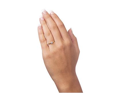 Něžný zásnubní prsten ze zlata 226 001 01035