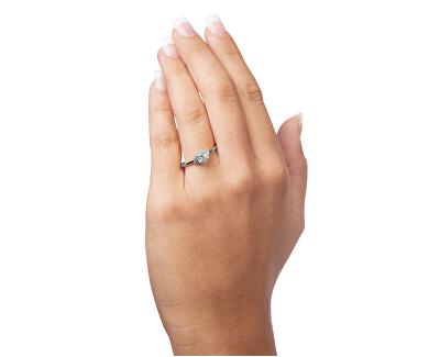 Okouzlující zásnubní prsten z bílého zlata 229 001 00804 07