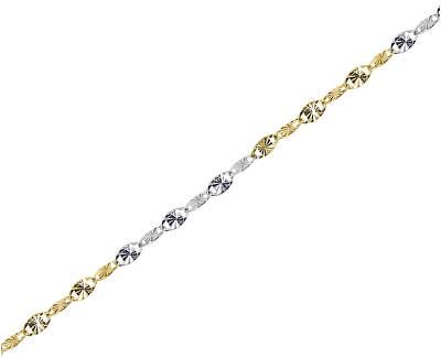 Parádny zlatý bicolor retiazka 42 cm 271 115 00194