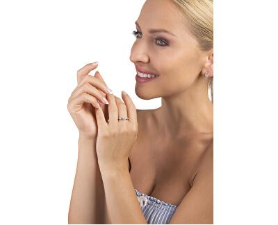 Půvabný prsten s krystaly z bílého zlata 229 001 00810 07