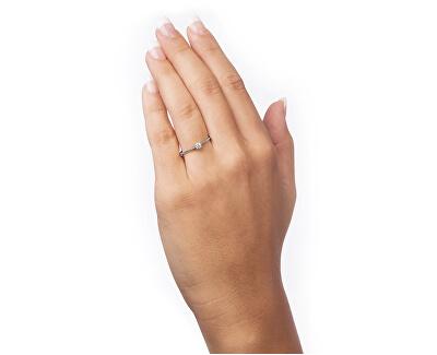 Zásnubní prsten z bílého zlata s krystalem 226 001 01036 07