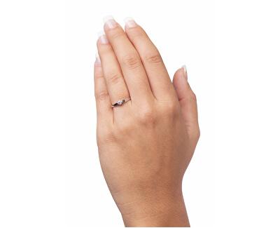 Zásnubní prsten z bílého zlata se zirkonem 226 001 00992 07