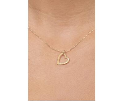 Inima cu pandantiv din aur cu cristale 249 001 00494