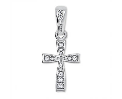 Jemný přívěsek křížek z bílého zlata 249 001 00570 07